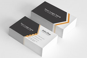 Simple Orange Aero Business Card