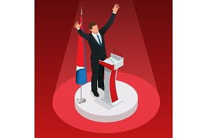 The man is the winner in the elections. Presidential Elections