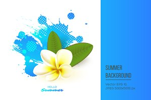Summer seasonal background.
