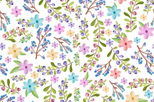 Twigs and floral pattern