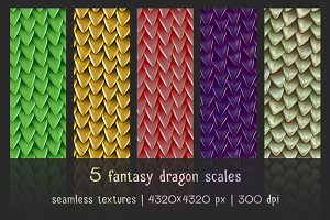5 patterns of fantasy dragon scales