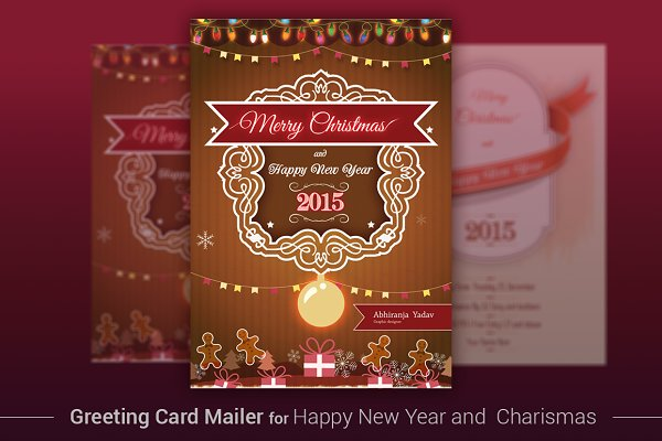 Invitation Templates: ORCOLOR - Merry christmas and New Year invite