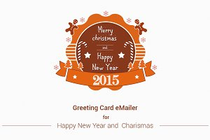 Merry Christmas, New Year e-Mailer