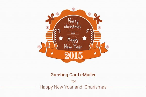 Invitation Templates: ORCOLOR - Merry Christmas, New Year e-Mailer