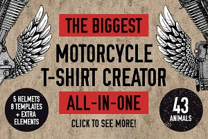 ALL in one Biker t-shirt creator