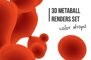 3d metaballs: color drops