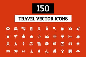 150 Travel Vector Icons