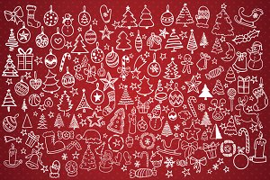 Hand Drawn Christmas Decorations