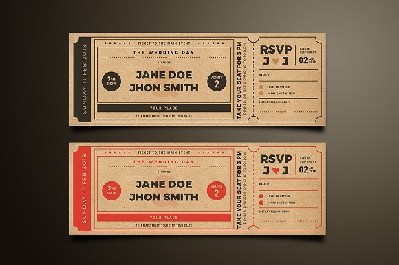 wedding invitation movie ticket - Movie Ticket Wedding Invitations