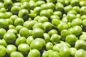 Peas, faded vintage look