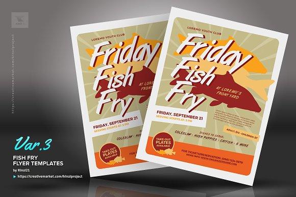 fish fry flyer templates flyer templates creative market