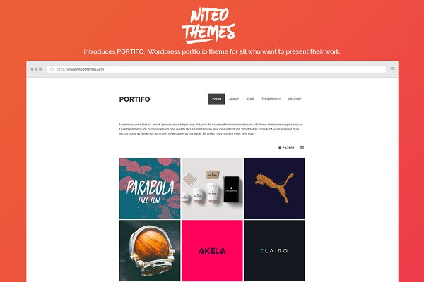 WordPress Portfolio Themes: NiteoThemes - Portifo - portfolio WordPress theme