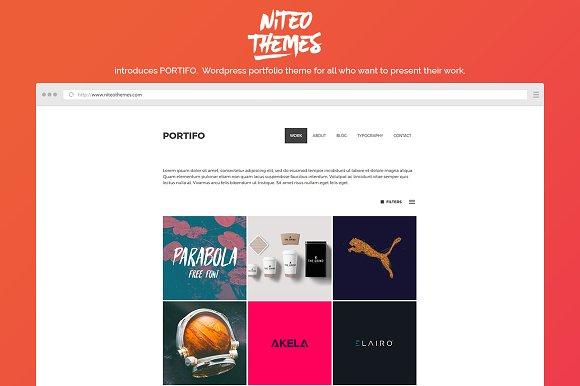 Portifo - portfolio WordPress theme