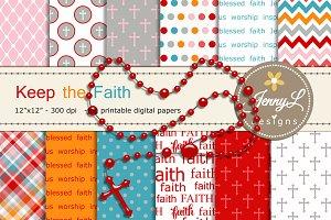Religious Digital Paper & Clipart
