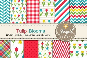 Spring Tulip Digital Papers