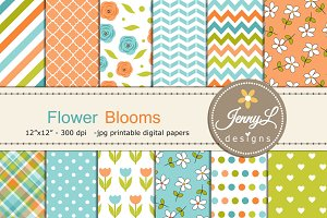 Floral Tulip Digital Papers