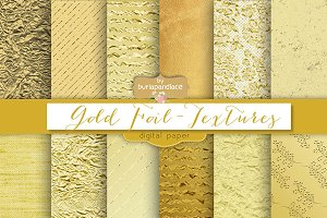 Gold foil/textures digital paper