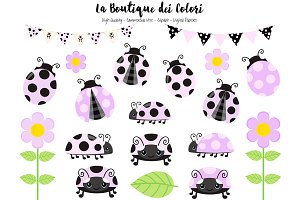 Purple Ladybug Clip art