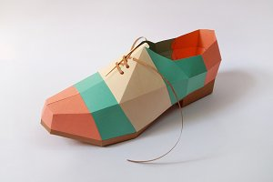 DIY Colorful Shoe - 3d papercrafts