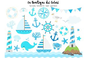 Baby Blue Nautical Clip Art