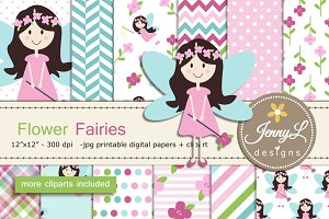 Fairy Digital Paper & Clipart