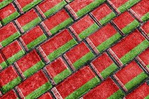 Bielorrusia Flag Urban Grunge Pattern