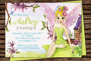 DIY Fairy Printable Invitation
