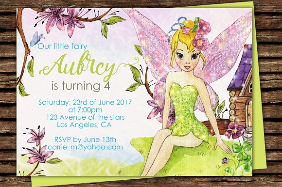 DIY Fairy Printable Invitation