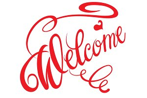 Welcome inscription design