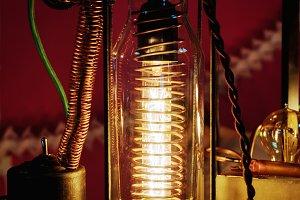 illuminated retro light bulb