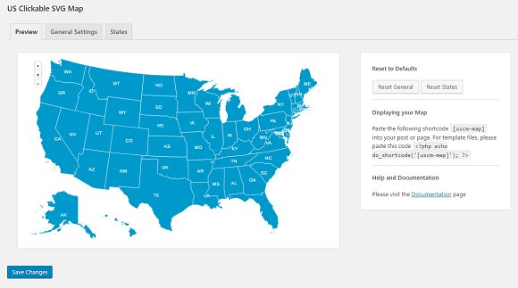 Svg Us Map.Us Clickable Svg Map Wordpress Plugins Creative Market