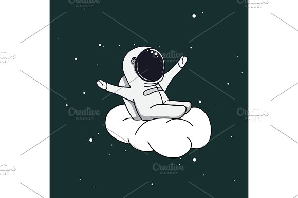 Spaceman On Cloud
