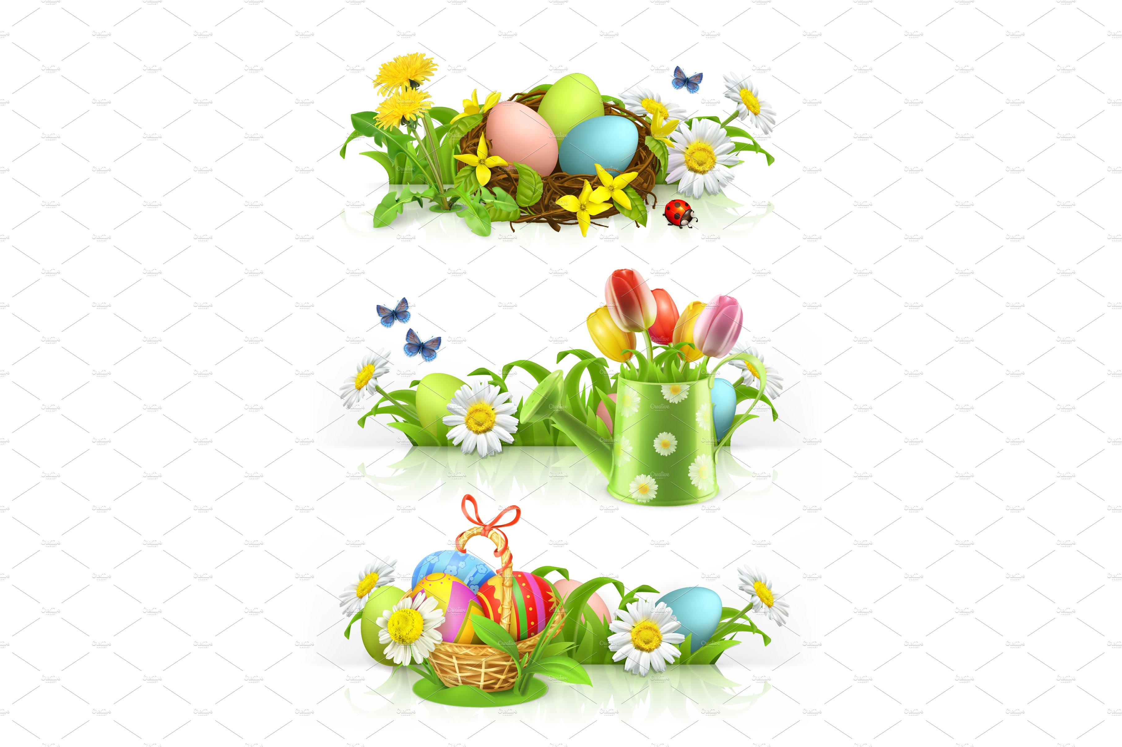 Easter Spring Flowers Vector Illustrations Creative Market
