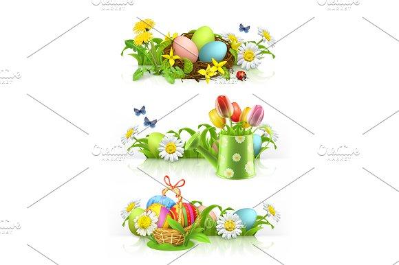 Easter spring flowers vector illustrations creative market easter spring flowers vector illustrations mightylinksfo
