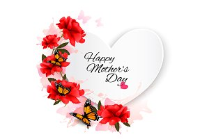 Mother's Day background. Vector.