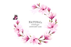 Natural vintage greeting card