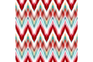 Vector seamless ikat ethnic pattern