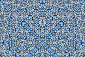 Geometric Colored Seamless Mosaic