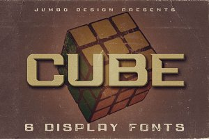 Cube - Display Font