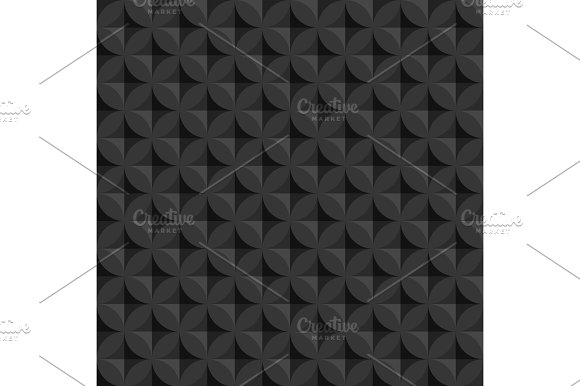 Vintage abstract circle  seamless  pattern with decorative geometric elements. Vector background