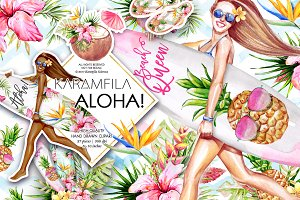 Aloha Clipart - Surf Boards Clip Art