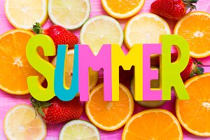 fruits background, summer