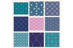 Vector Decorative Seamless Patterns Set