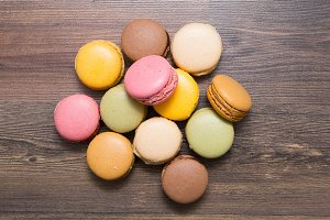 colofrul sweets, macaron background
