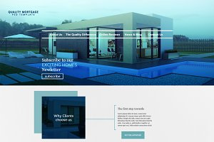 Mortgage Landing Page PSD Template
