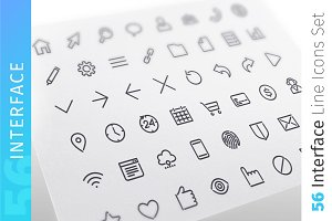 Interface Line Icons Set