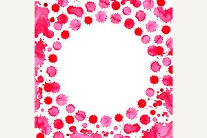 Watercolor pink spot frame backdrop