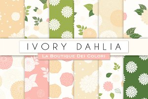 Ivory Wedding Floral Digital Paper
