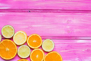 orange background, citrus