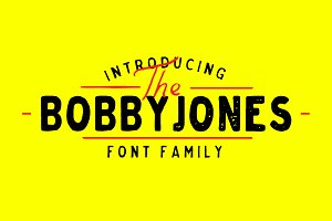 Bobby Jones Font Bundle
